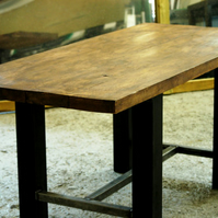 Vintage Industrial Retro Style Steel Dining Table Steampunk Made to Order