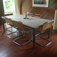 Chic Industrial Style Modern Contemporary Table Seats 6 to 8 - Made to order