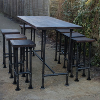 High Gas Pipe Bar Table