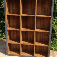 Vintage Industrial Modern Rustic Freestanding Old Wood Shelves Full of Character
