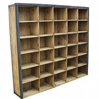 Industrial Design Box Shelf Unit Freestanding Retro Vintage Shelving Metal Frame