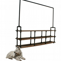 Industrial Modern Contemp. Gas Pipe Clothes Rail Storage Unit Rack Shop Display