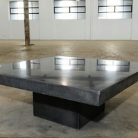 Modern Polished Concrete Square Coffee Table