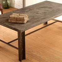 Concrete Coffee Table Vintage Industrial Retro Shabby Chic