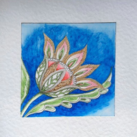 Beautiful and original Art card called 'Regency Blue'.