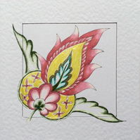Beautiful original Art card called 'Regency Yellow'.
