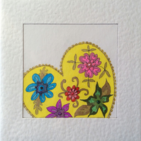 'A Little Piece of ..........' Handemade Card.