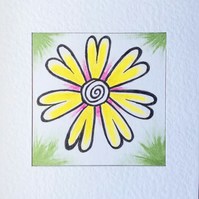 Warm Flower Art Card called 'Thinking Of The Sun...'.