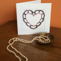 Delicate Art Card called 'Love Lace'.