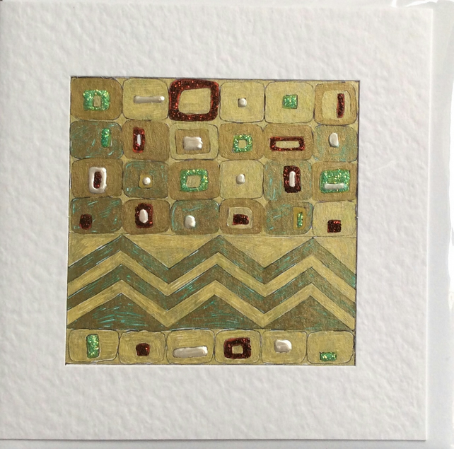 Gold luxurious Art Card Called 'Right'.