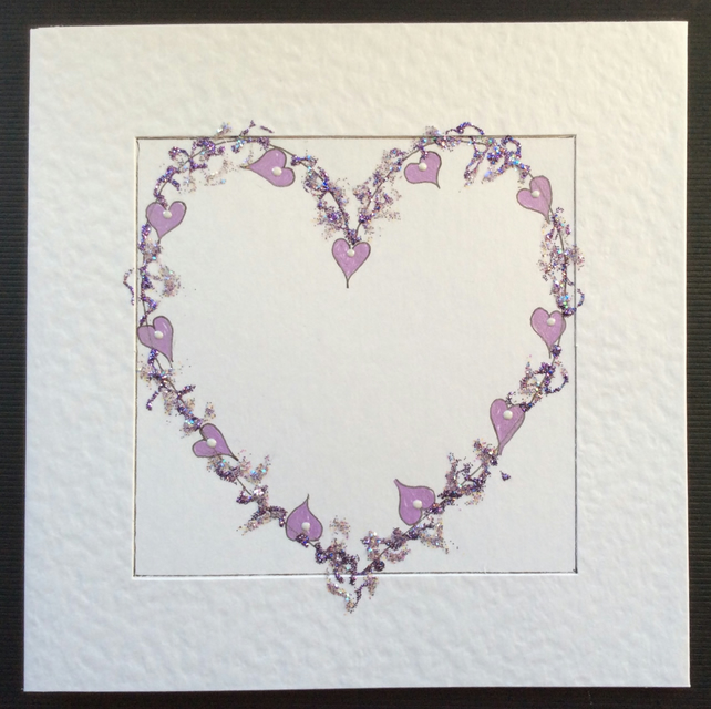 My delicate 'Hearts and Violets' Card.