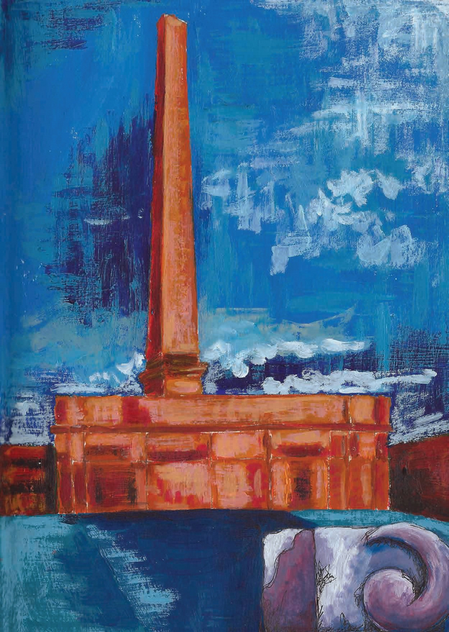 'The Chimney at Salts Mill' blank card.