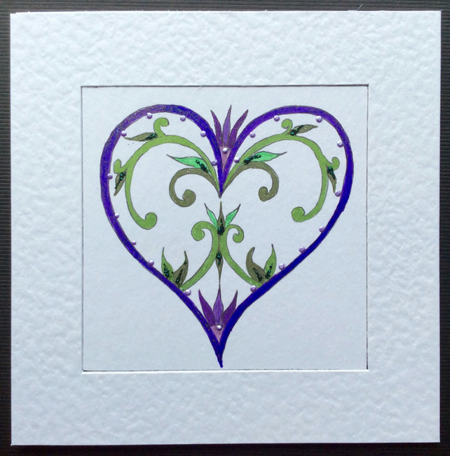 'From A Little Flourish' Art Card.