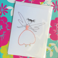 Apple Blossom Fairy Blank Card.