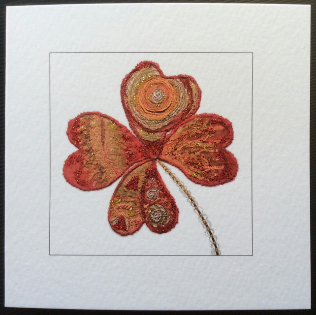 'Clover' printed blank Art card