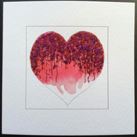 'Over The Shoulder' printed blank Art Card.