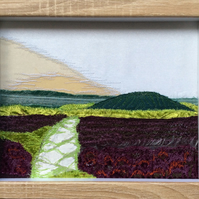 'Heather' embroidered landscape.