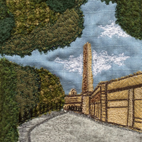 Salts Mill, Saltaire embroidery.