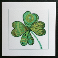 Clover printed card.