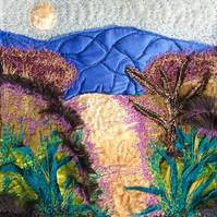 Landscape embroidery.