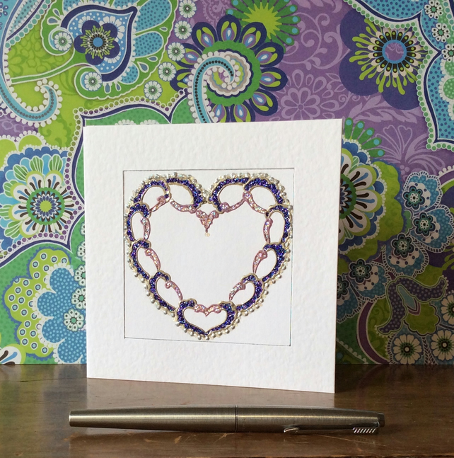 'Love Lace' Art Card.