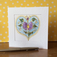 Delicate flower Art Card.