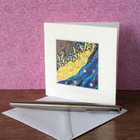 'Sea and Sun' printed blank Art Card.
