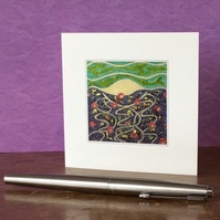 'It Comes Alive At Night' printed Blank Art Card.