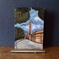 Salts Mill, Saltaire Blank Card.