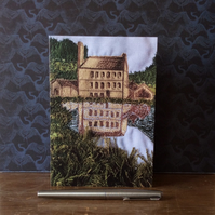 Embroidered Yorkshire Mill Landscape Card.
