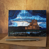 Whitby Abbey printed Card.