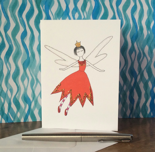 Penny Fairy Blank Card.