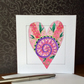 Hand painted heart Art Card.