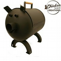 Pigbecue, Pig shaped bbq barbecue grill.
