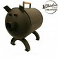 Pigbecue, Pig shaped bbq grill, smoker firepit barbecue