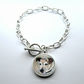Jack Russell Terrier Dog Large Link Charm Bracelet With Toggle