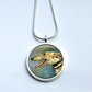 Silver Plated Greyhound Dog Art Snake Chain Necklace