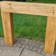 Square box style fire surround hand made rustic bespoke made to order