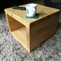 Rustic Cube Coffee Table Bedside Table Handmade
