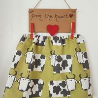 Girls cow print skirt