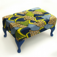 Tropical Blue Footstool
