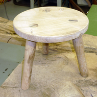 Beautiful oak childrens stool.  Handmade in Scotland from Perthshire oak.