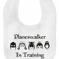 MTG Magic the Gathering Inspired Velcro Baby Bib Planeswalker in Training