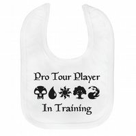 MTG Magic the Gathering Inspired Velcro Baby Bib Pro Tour Player in Training