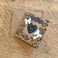 Chalk Heart Wedding Card