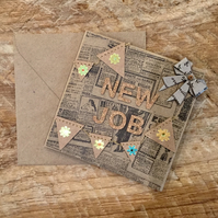 New Job Bunting Card