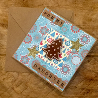 Daughter Gingerbread Christmas Tree Card