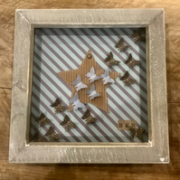 Personalised Boys Name Butterfly Box Frame