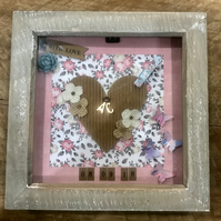 Personalised Wedding Box Frame