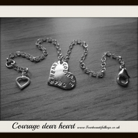 Courage Dear Heart CSLewis Quote Bracelet
